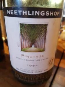 Neethlingshof Pinotage 1984