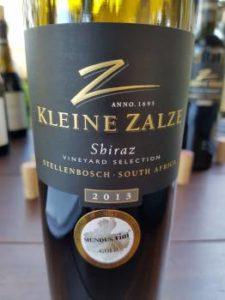 Kleine Zalze Vineyard Selection Shiraz 2013