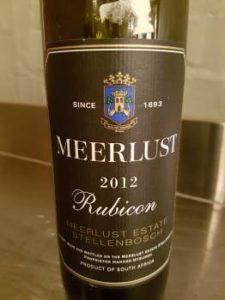 Meerlust Rubicon 2012