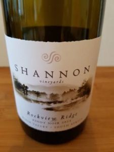 Shannon Vineyards Rockview Ridge Pinot Noir 2015
