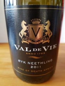 Val de Vie Ryk Neethling 2011, Val de Vie Ryk Neethling 2011