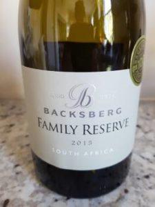 Backsberg Family Reserve White 2015