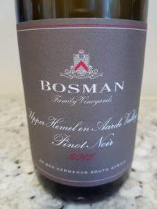 Bosman Family Vineyards Upper Hemel-en-Aarde Pinot Noir 2015