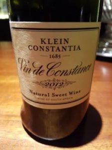 Klein Constantia Vin de Constance 2012
