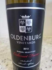 Oldenburg Vineyards Cabernet Franc 2013