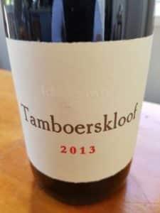 Tamboerskloof Syrah 2013