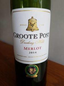Groote Post Merlot 2014