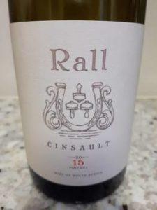 Rall Cinsault 2015, Rall Cinsault 2015