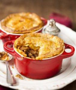 Lamb curry pot pies.