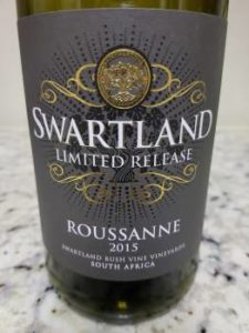 Swartland Limited Release Roussanne 2015