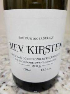 The Old Vine Series Mev. Kirsten 2015