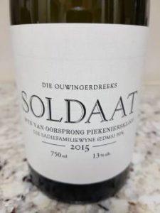 The Old Vine Series Soldaat 2015