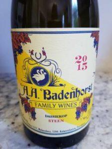AA Badenhorst Family Wines Dassiekop Steen 2015