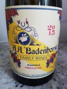 AA Badenhorst Family Wines Raaigras Grenache 2015