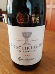 Boschkloof Epilogue Syrah 2014
