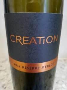 Creation Reserve Merlot 2014