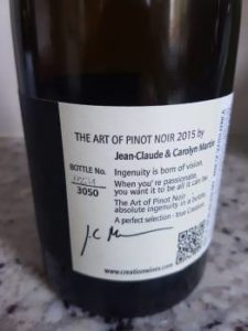 Creation The Art of Pinot Noir 2015