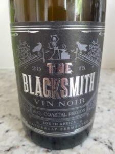 Blacksmith Vin Noir 2015