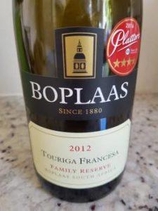 Boplaas Family Reserve Touriga Francesa 2012