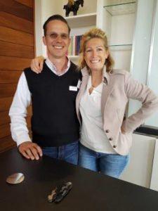 Joris van Almenk and Natalie Opstaele of Almenkerk Wine Estate.