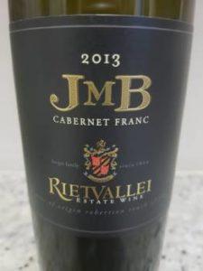 Rietvallei JMB Cabernet Franc 2013