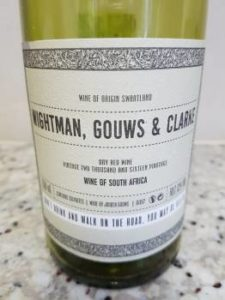 Wightman, Gouws and Clarke Dry Red 2016