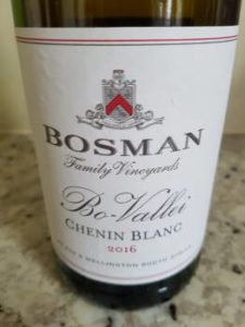 Bosman Family Vineyards Bo-Vallei Chenin Blanc 2016
