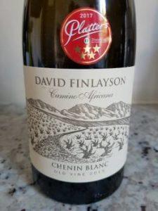 David Finlayson Camino Africana Chenin Blanc 2015