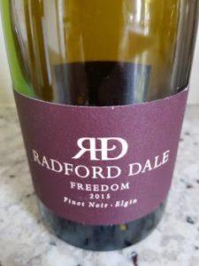 Radford Dale Freedom Pinot Noir 2015