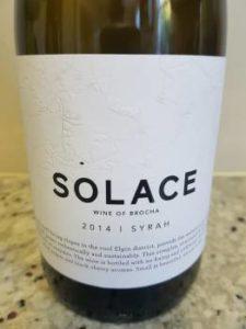 Solace Syrah 2014