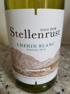 Stellenrust Chenin Blanc 2016