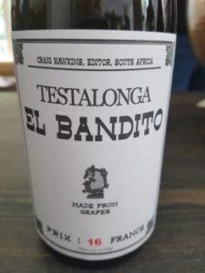 Testalonga El Bandito Skin Contact Chenin Blanc 2016