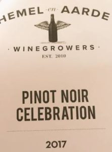 Hemel-en-Aarde Winegrowers Pinot Noir Celebration 2017