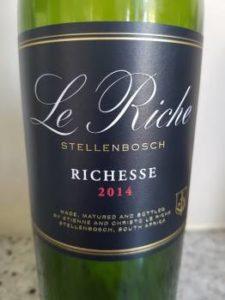 Le Riche Richesse 2014, Le Riche Richesse 2014