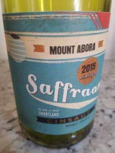 Mount Abora Saffraan Cinsaut 2015
