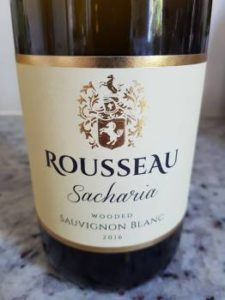 Rousseau Sacharia Wooded Sauvignon Blanc 2016