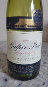 Bouchard Finlayson Galpin Peak Pinot Noir 2001