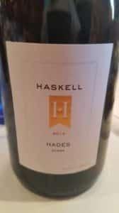 Haskell Hades Syrah 2014