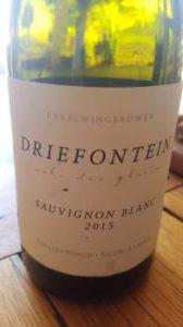 Jasper Raats Signature Wines Driefontein Sauvignon Blanc 2015