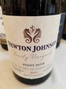 Newton Johnson Family Vineyards Pinot Noir 2015
