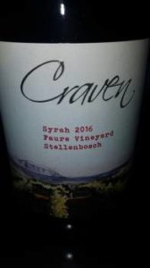 Craven Faure Vineyard Syrah 2016