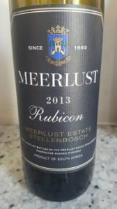 Meerlust Rubicon 2013