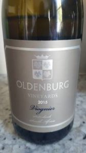 Oldenburg Vineyards Viognier 2015