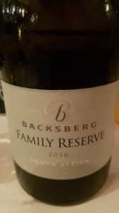 Backsberg Family Reserve White 2016