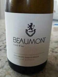 Beaumont Hope Marguerite Chenin Blanc 2016