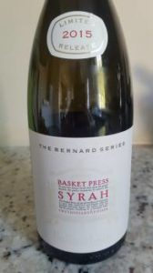 Bellingham The Bernard Series Basket Press Syrah 2015