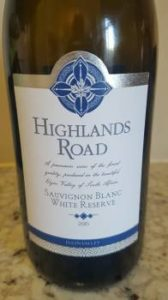 Highlands Road Sauvignon Blanc White Reserve 2015