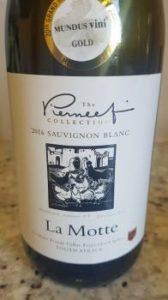 La Motte Pierneef Sauvignon Blanc 2016, La Motte Pierneef Sauvignon Blanc 2016