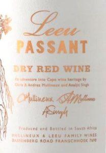 Leeu Passant label