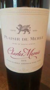 Plaisir de Merle Charles Marais 2013